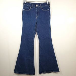 Pilcro and the Letterpress Anthro Wide Leg Jeans